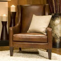 Rustic Leather Chair Baby Shower Decoration Elements Fine Home Furnishings Bristol Top Grain
