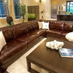 Costco Leather Living Room Furniture Tile Elements Fine Home Furnishings Easton Top Grain ...