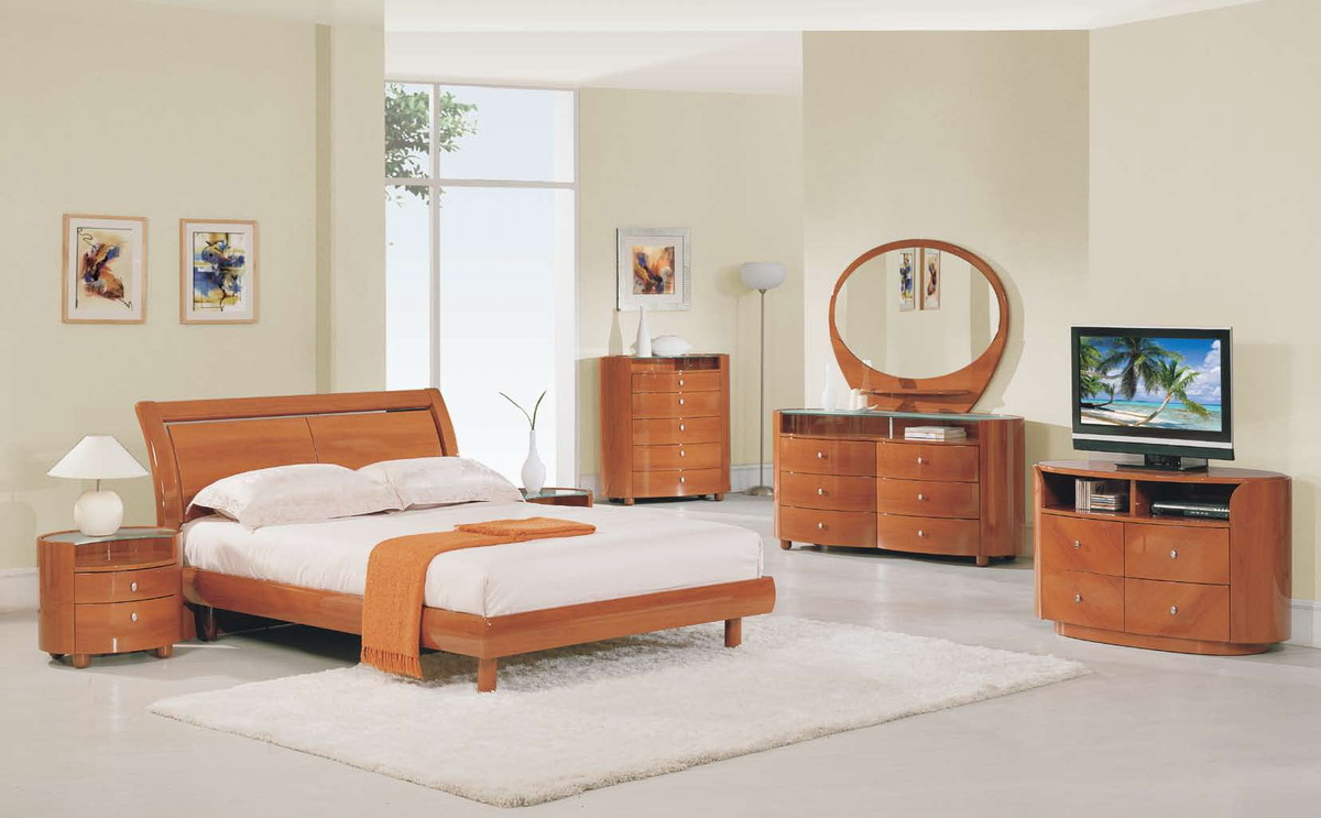 Global Furniture USA Emily Platform Bedroom Collection  Cherry GFEMILYB86CHBEDSET at