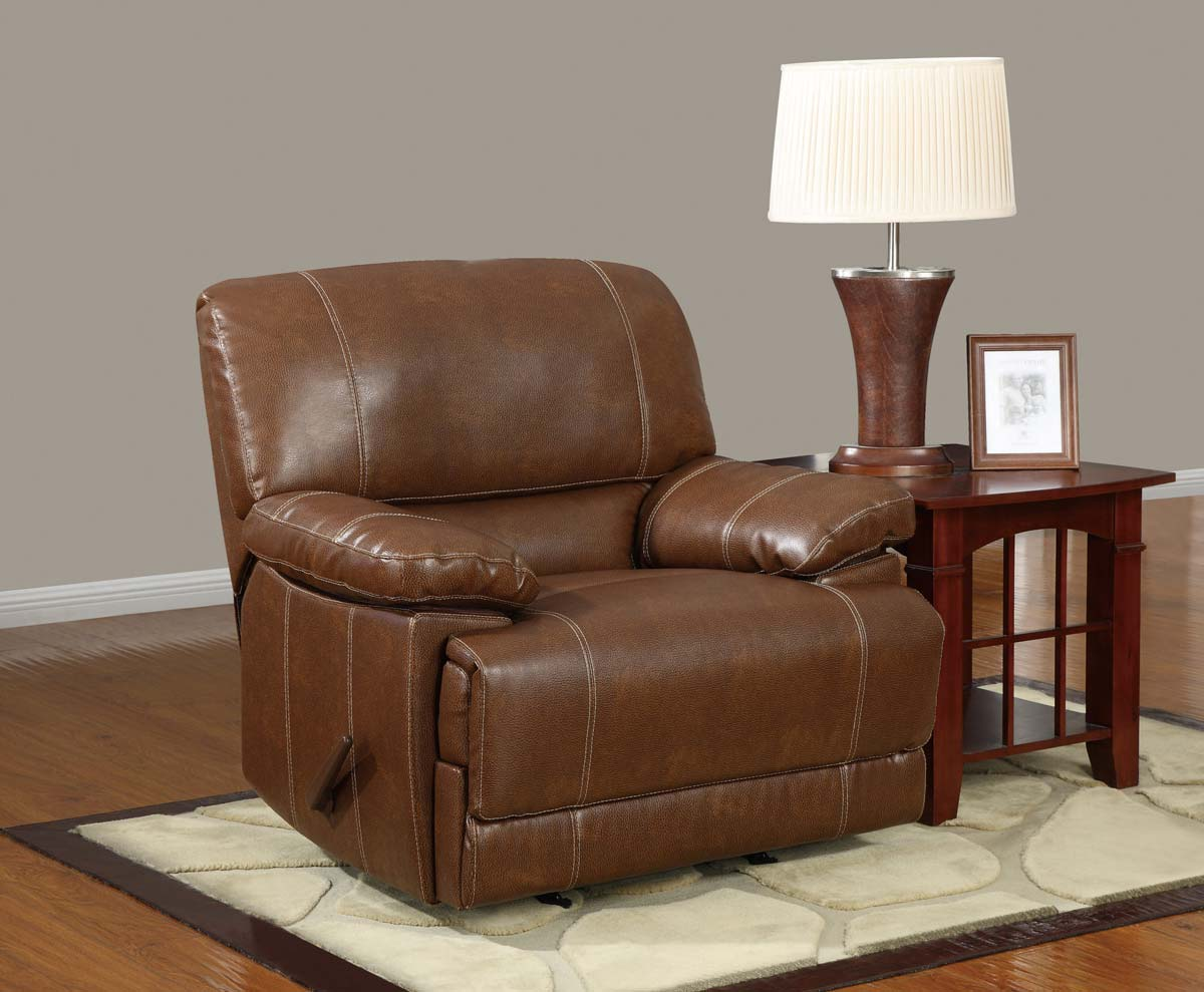 brown leather rocking chair hanging hammock with stand global furniture usa 9963 rocker recliner bonded