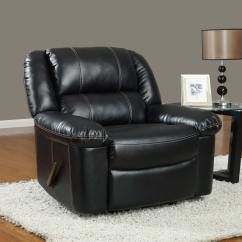 Black Bonded Leather Chair Rubber Foot Protectors Global Furniture Usa 9966 Reclining Sofa Set