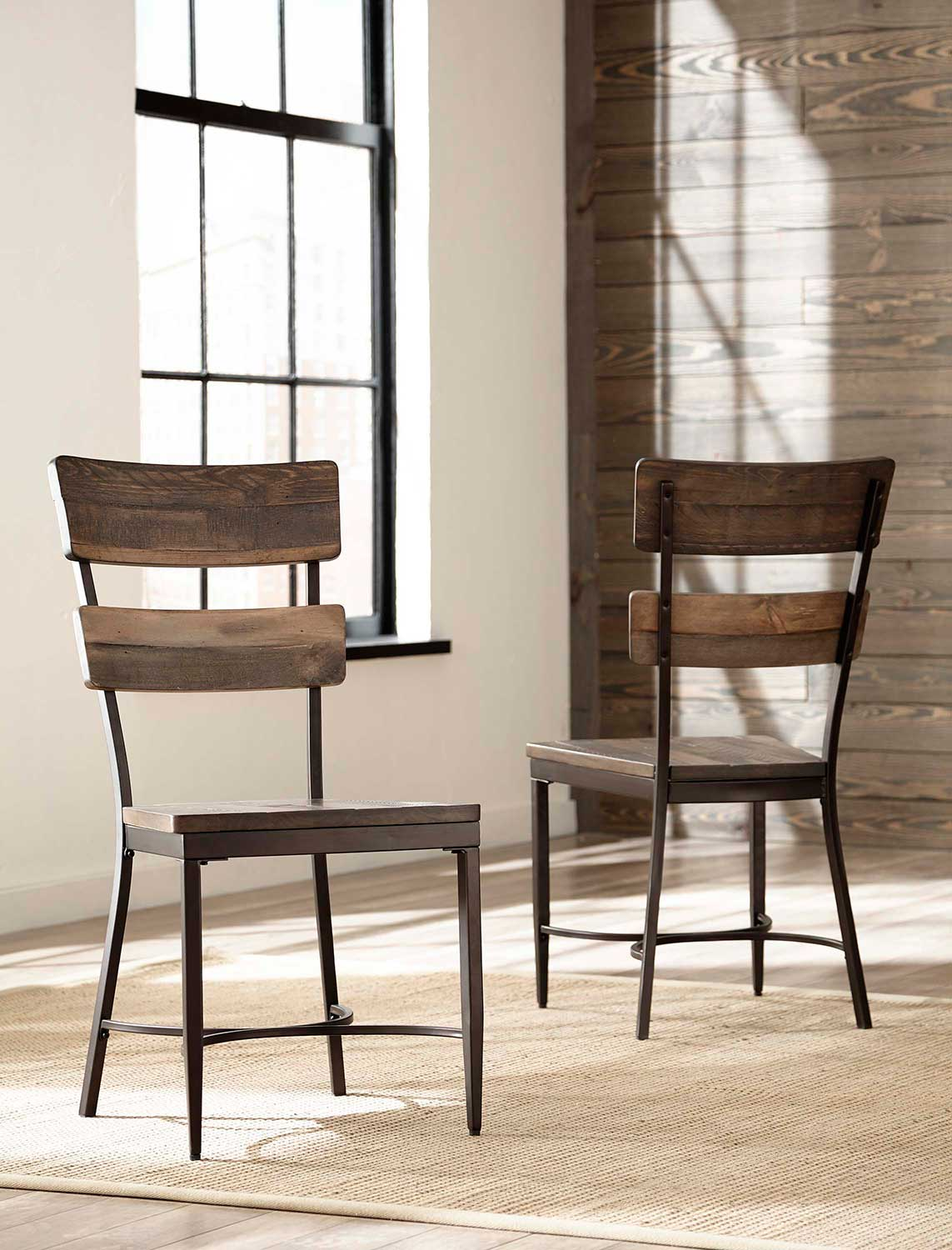 wood and metal dining chairs revolving chair price in sri lanka hillsdale jennings walnut brown