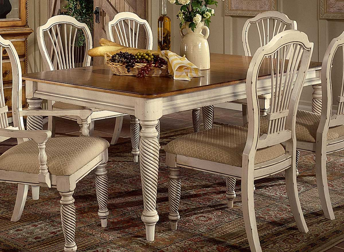antique white dining chairs minnie mouse hillsdale wilshire rectangular table