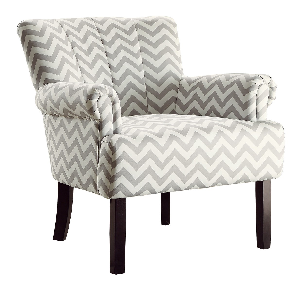 gray chevron chair thomas the train toys r us homelegance langdale accent grey 1212f4s