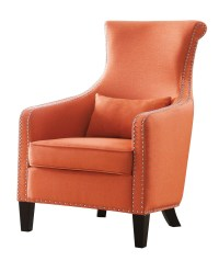 Homelegance Arles Accent Chair with 1 Kidney Pillow ...