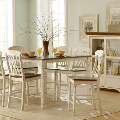 White Kitchen Table And Chairs Patio Chair Cushions Kmart Homelegance Ohana Counter Height Dining Set D1393w