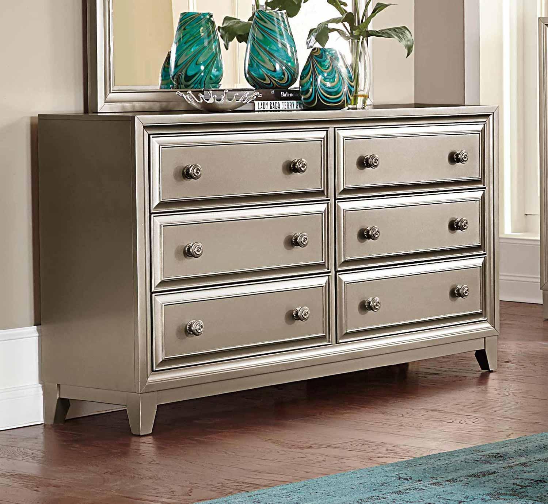 Homelegance Hedy Dresser  Silver 18395 at Homelementcom