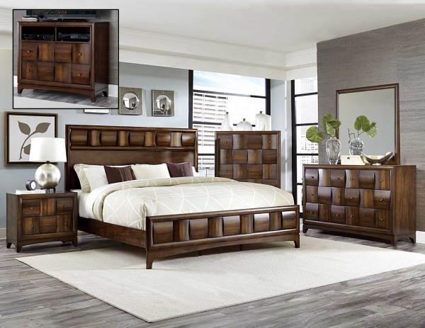 Homelegance Porter Bedroom Set - Warm Walnut 1852-bedroom-set