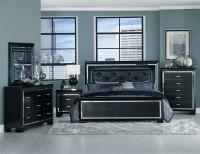 Homelegance Allura Bedroom Set with LED Lighting - Black ...