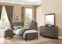 Homelegance Vestavia Panel Bedroom Set - Grey/Dark Brown ...