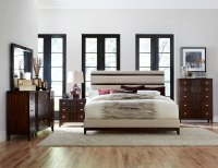 Homelegance Pelmar Upholstered Bedroom Set - Dark Walnut ...