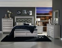Homelegance Bevelle Button Tufted Upholstered Bedroom Set ...