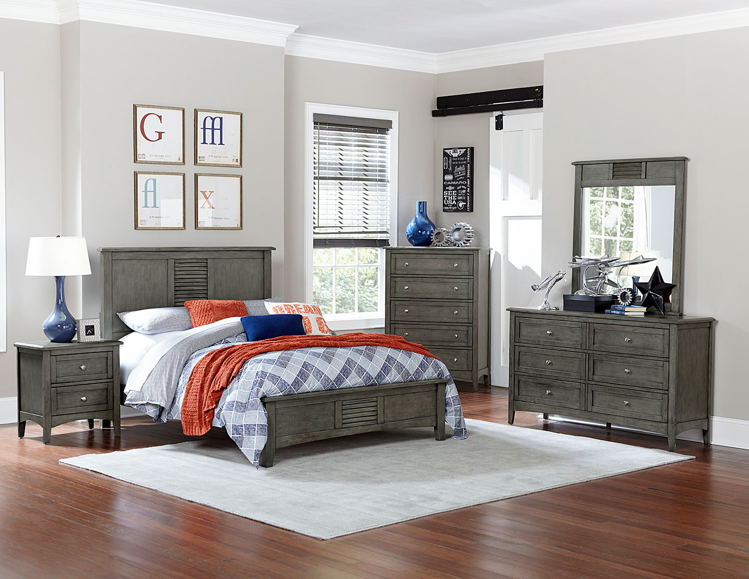 homelegance garcia bedroom set - gray 2046-bedroom-set at