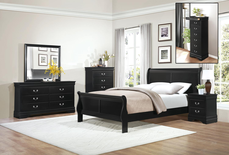 Homelegance Mayville Bedroom Set  Black 2147BKBEDROOMSET at Homelementcom