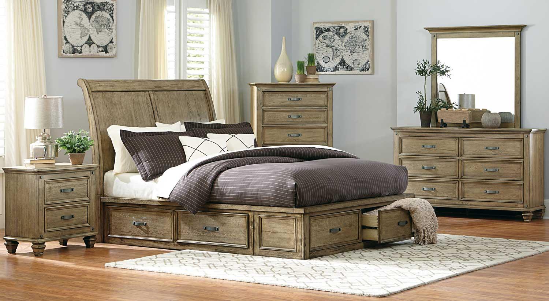 Homelegance Sylvania Platform Bedroom Set Driftwood