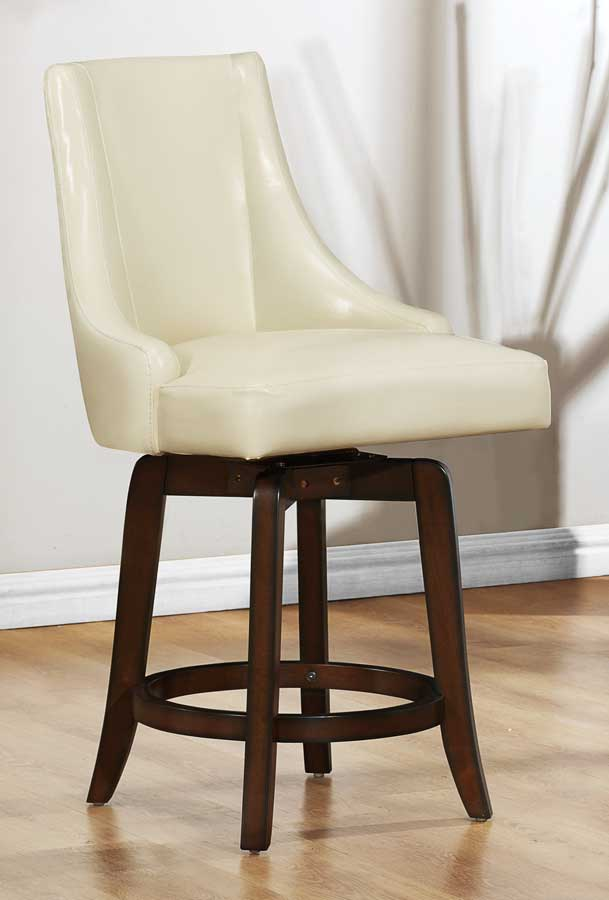 24 inch counter chairs buy folding homelegance annabelle swivel height chair - cream 2479-24crs at homelement.com