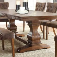 Rustic Dining Table And Chairs Reclining Folding Chair With Footrest Homelegance Marie Louise Oak Brown