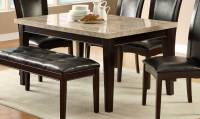 Homelegance Hahn Dining Table - Ivory Marble Top/Dark ...