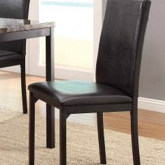 Steel Chair Size Comfy Chairs For Gaming Homelegance Tempe Counter Height Black Metal 2601