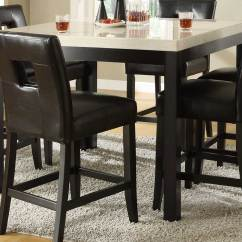 Black Square Pub Table And Chairs 16x16 Chair Cushions Homelegance Archstone Counter Height Dining Set D3270 36
