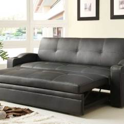 Lounger Sofa With Pull Out Trundle Grey Leather Ideas Homelegance Novak Elegant