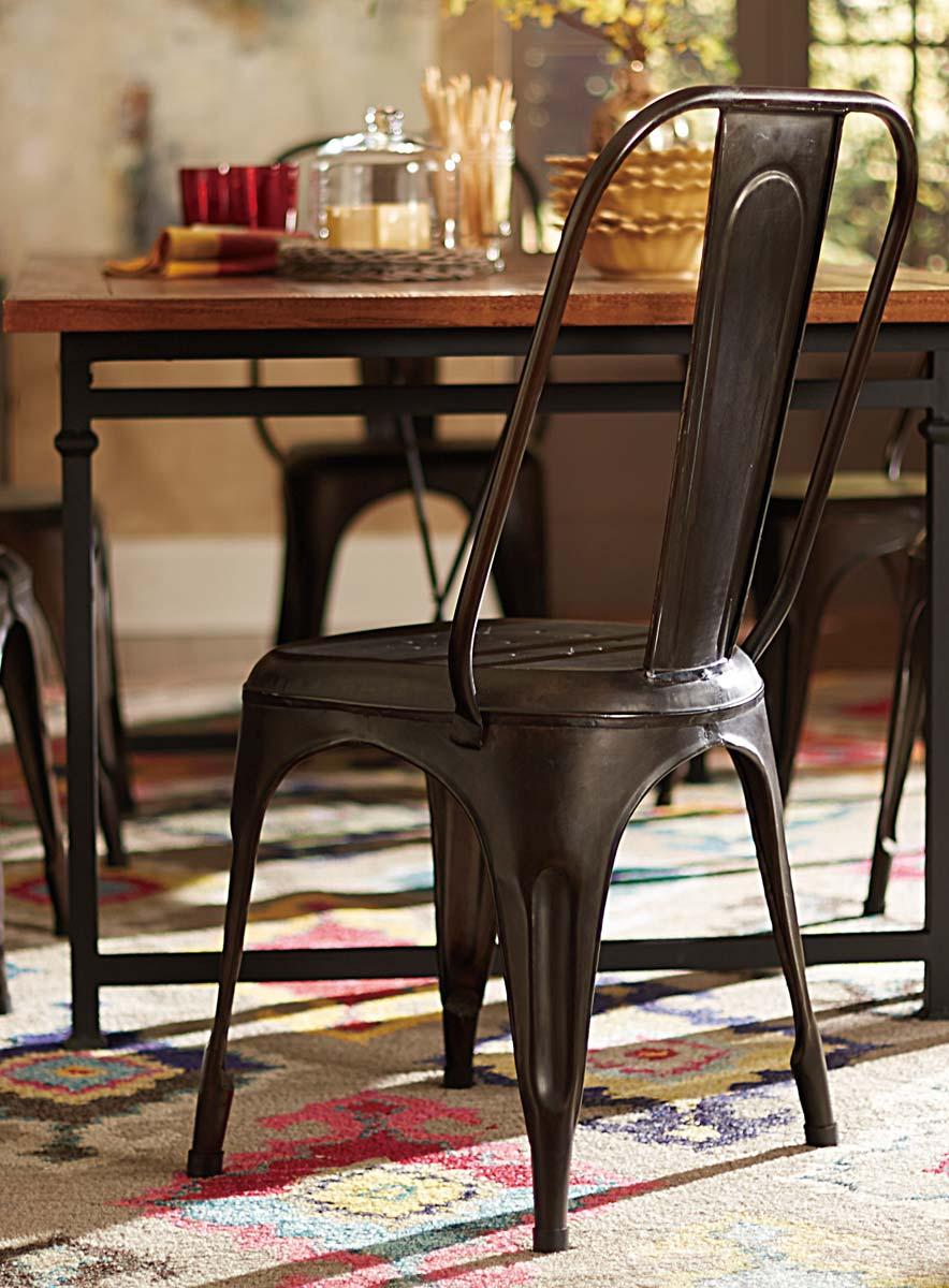 Homelegance Amara Rustic Metal Chair  Rustic Brown