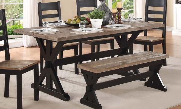 Homelegance North Port Trestle Dining Table - Two Tone