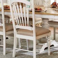 White Distressed Dining Chairs Chairo Soup Homelegance Hollyhock Trestle Pedestal Set