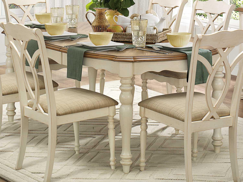 antique white dining chairs handmade wooden homelegance azalea set 5145