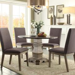 Anna Slipcover Chair Collection Rocking Swivel Homelegance Claire Round Dining Set S1 Driftwood