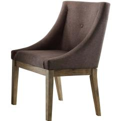 Anna Slipcover Chair Collection Wheelchair Dog Homelegance Claire Curved Arm Driftwood Grey
