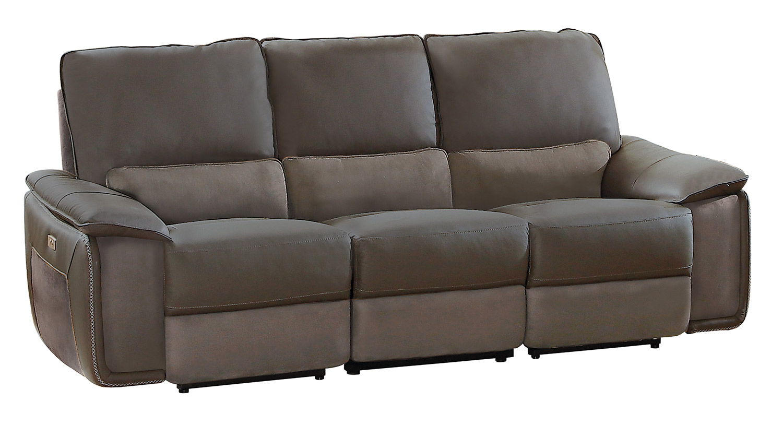 gray sofa navy chairs floor sofas india homelegance corazon power double reclining
