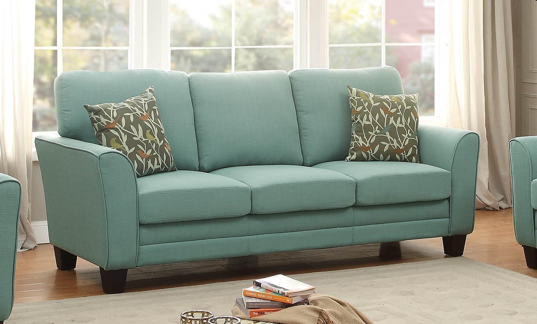 cheap teal sofas havertys sofa reviews homelegance adair 8413tl 3 at homelement