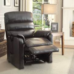All Leather Recliner Chairs Slim High Chair Homelegance Kellen Power Lift Dark Brown