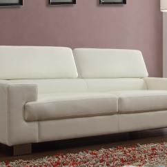 White Bonded Leather Sectional Sofa Set With Light Darby Modern Grey Fabric Homelegance Vernon