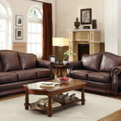 Brooklyn Bonded Leather Lounger Chair And Ottoman C Stand For Hammock Homelegance Midwood Sofa Collection Dark