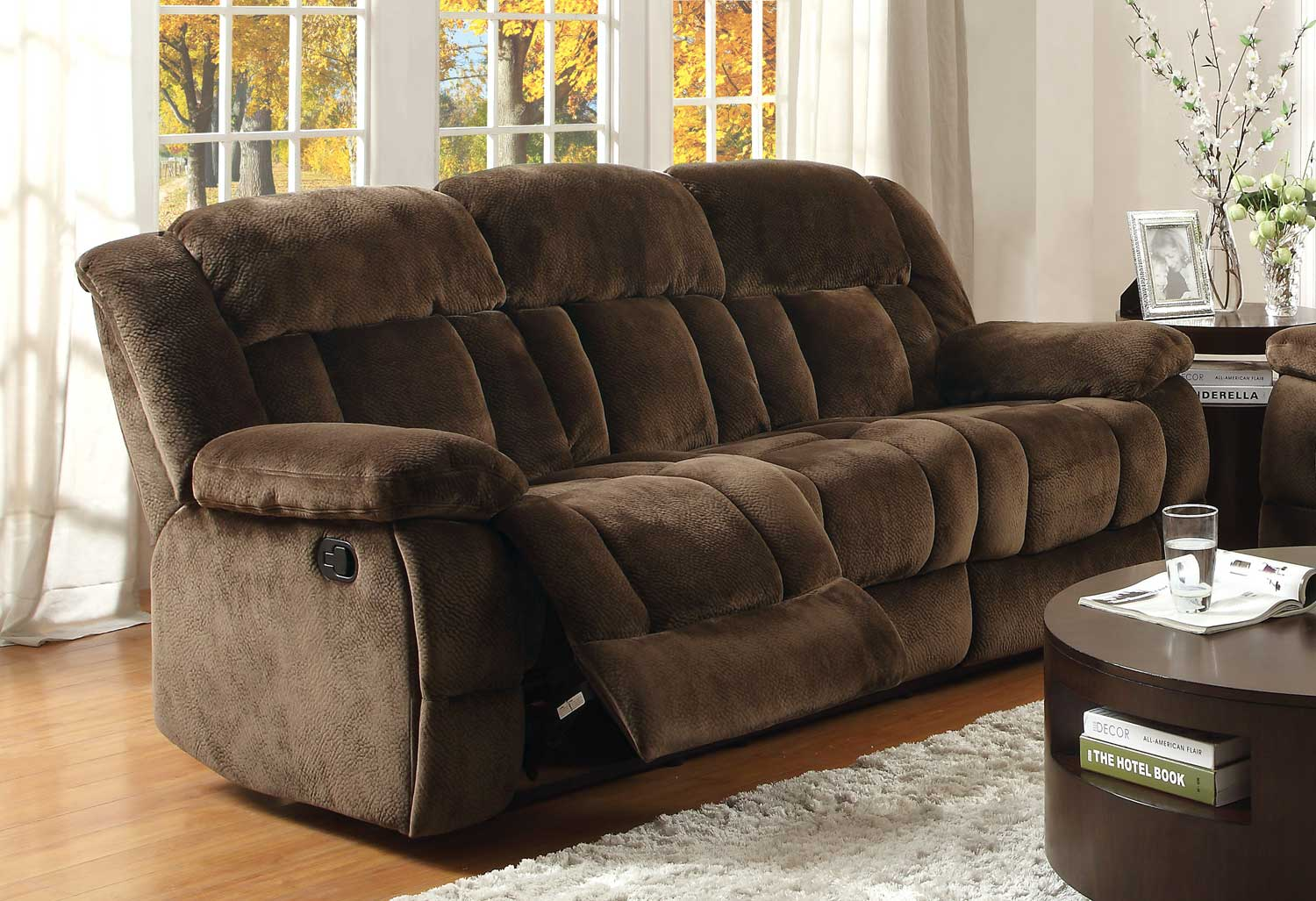 sofas and recliners grey leather sofa in living room homelegance laurelton double reclining chocolate