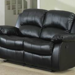 Double Recliner Chairs Folding Lounge Chair Outdoor Homelegance Cranley Reclining Bonded Leather Love