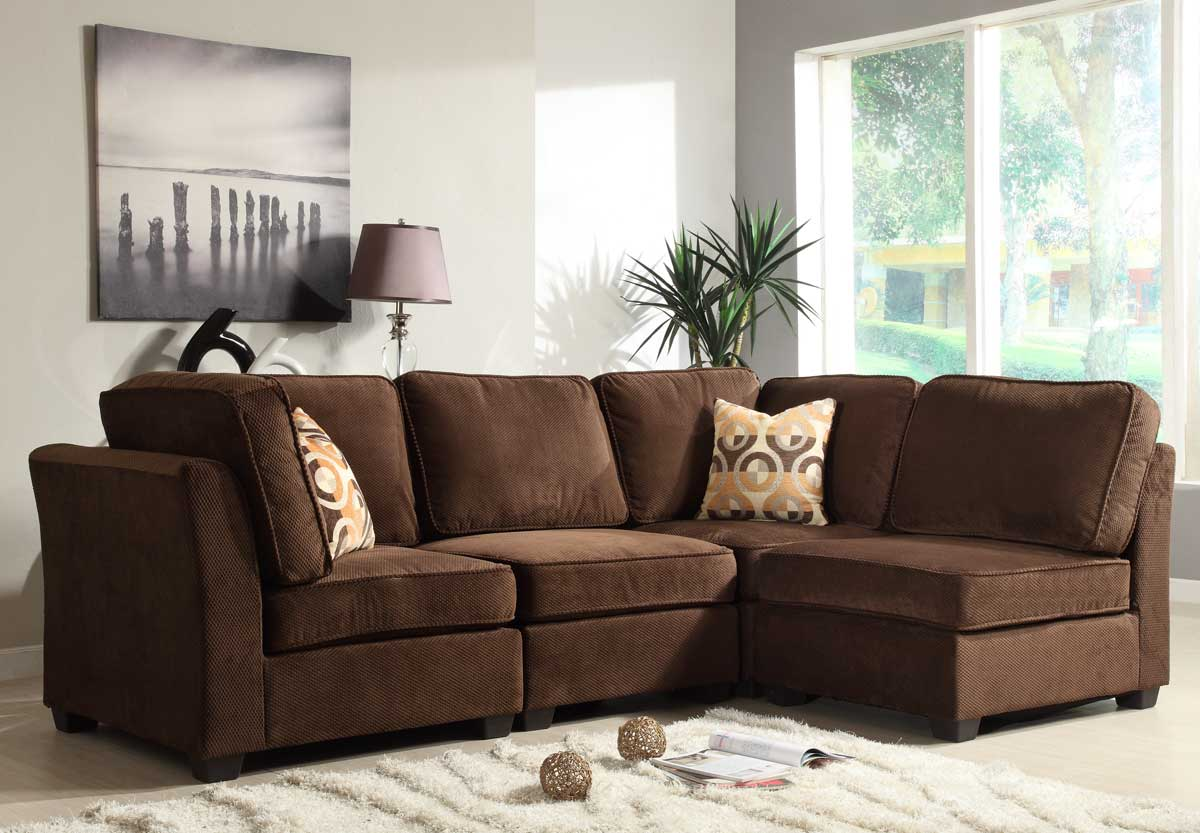 dark brown sofa design leather and sectionals homelegance burke sectional set a fabric