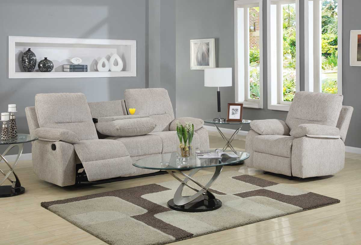 3 2 recliner sofa sears furniture outlet sofas homelegance marianna reclining set - beige chenille ...