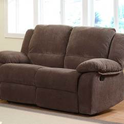 2 Seater Love Chair Plush Bean Bag Homelegance Lucienne Double Reclining Seat 9725 At