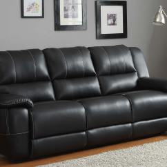 Living Room Ideas Black Leather Furniture Hgtv Designs For Homelegance Cantrell Sofa Double Recliner - Bonded ...