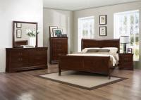 Homelegance Mayville Bedroom Set - Burnished Brown Cherry ...