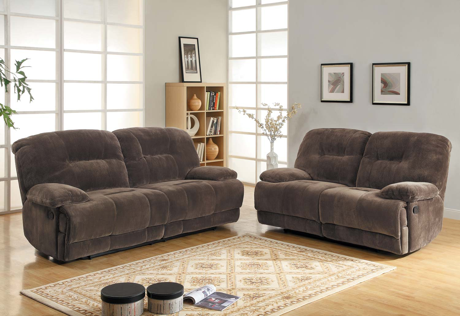 plush magnum sofa review cool sofas for cheap homelegance geoffrey reclining set chocolate