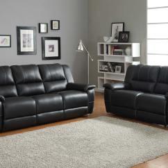 Black White Sofa Set Pewter Slipcover Homelegance Cantrell Reclining Bonded