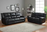 Homelegance Cantrell Reclining Sofa Set - Black - Bonded ...