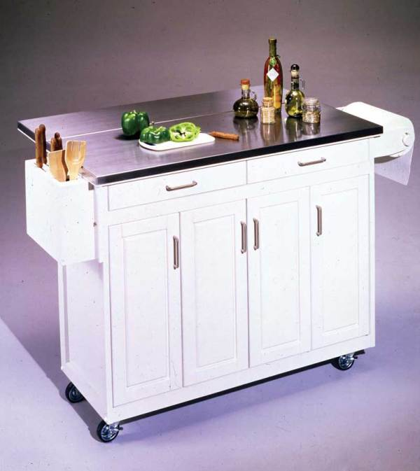Home Styles Stainless Steel Top Kitchen Cart With