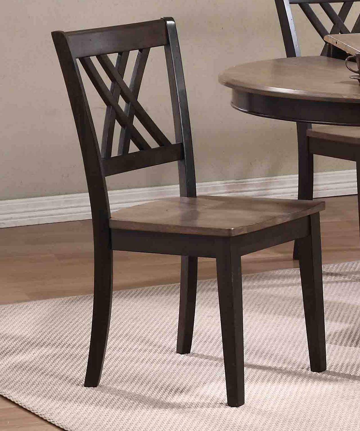 double x back chairs ohio state chair iconic furniture rectangular leg dining set with