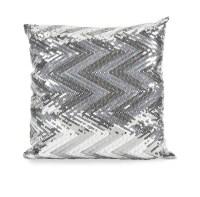 IMAX Estradin Silver Sequin Chevron Pillow IM