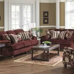 Ashley Sofa Tables Big Little Room Jackson Belmont Set - Claret Jf-4347-sofa-set-claret ...